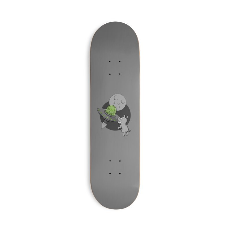 UFF - Unidentified Flying Frisbie Accessories Deck Only Skateboard by YiannZ's Artist Shop