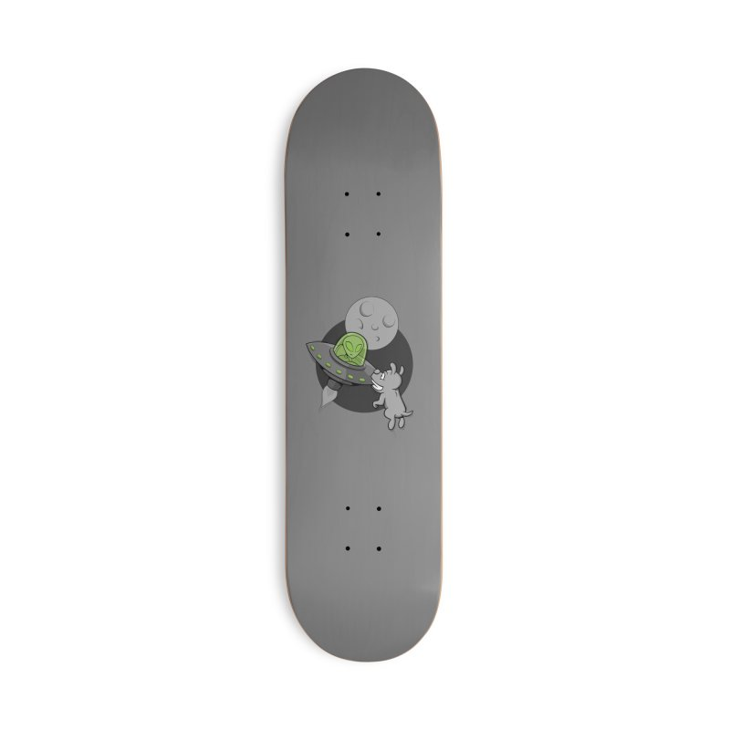 UFF - Unidentified Flying Frisbie Accessories Skateboard by YiannZ's Artist Shop