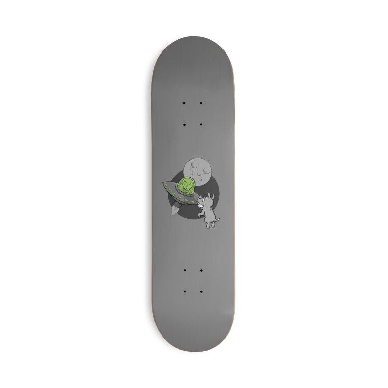 UFF - Unidentified Flying Frisbie Accessories Skateboard by YiannZ's Artist Shop