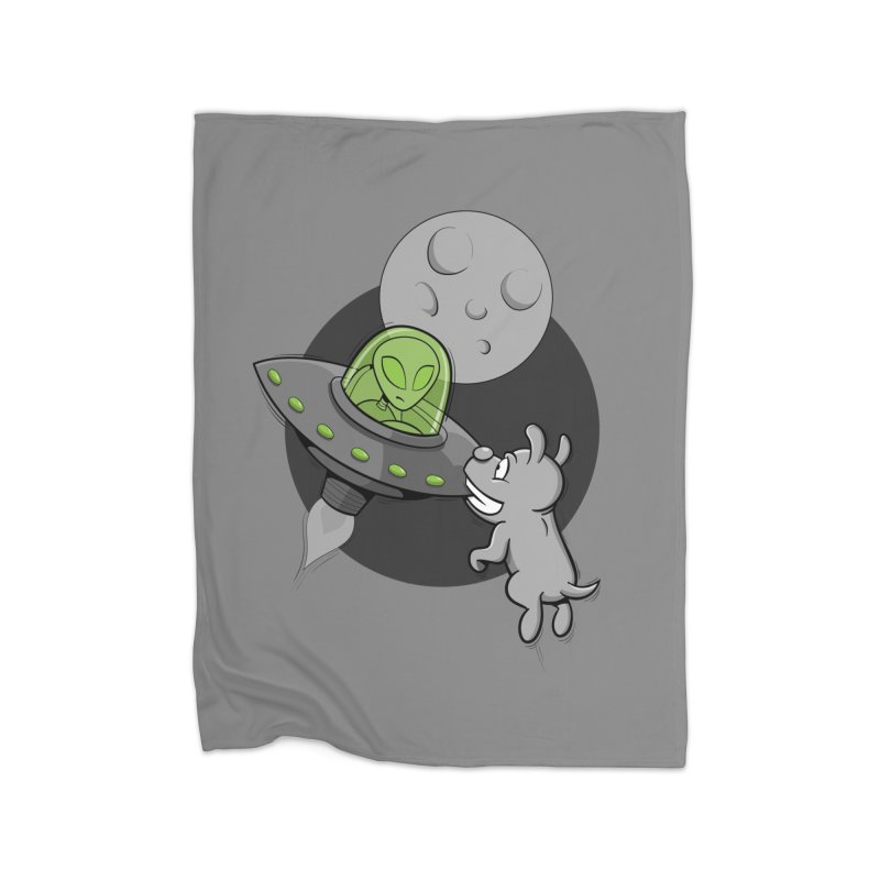 UFF - Unidentified Flying Frisbie Home Fleece Blanket by YiannZ's Artist Shop