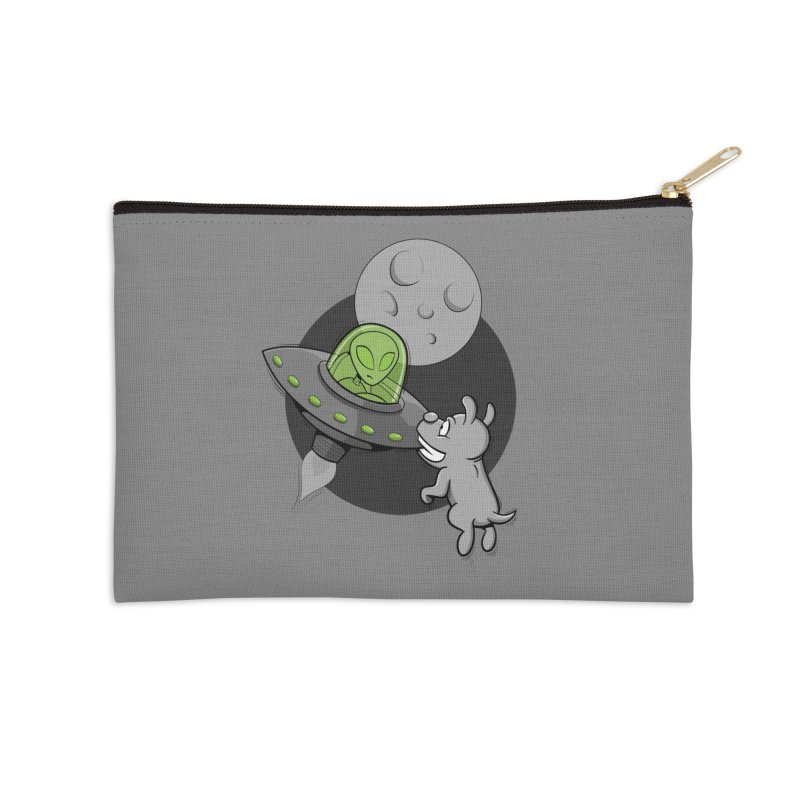 UFF - Unidentified Flying Frisbie Accessories Zip Pouch by YiannZ's Artist Shop