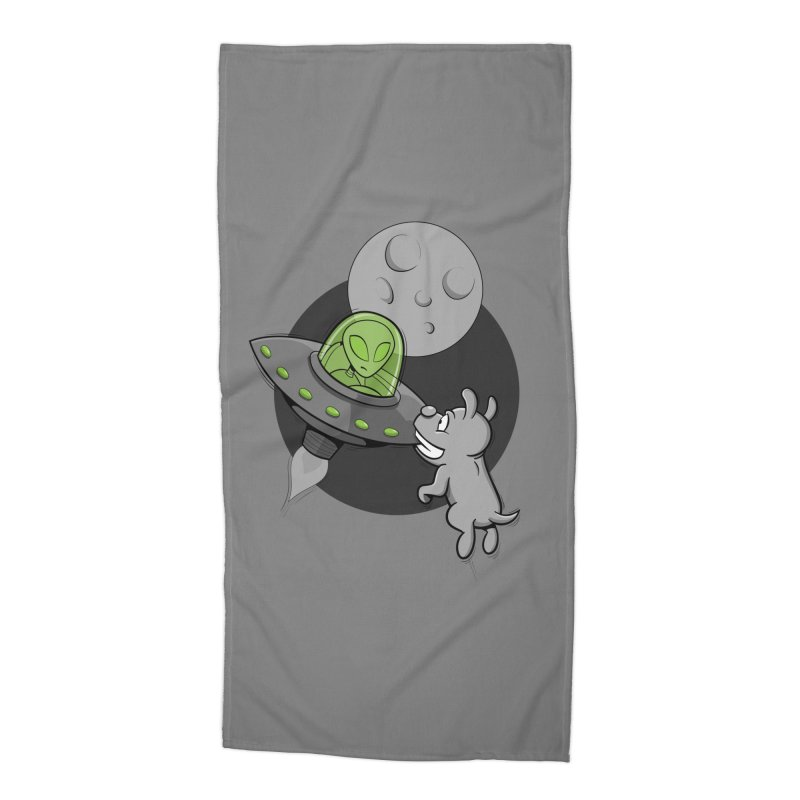 UFF - Unidentified Flying Frisbie Accessories Beach Towel by YiannZ's Artist Shop