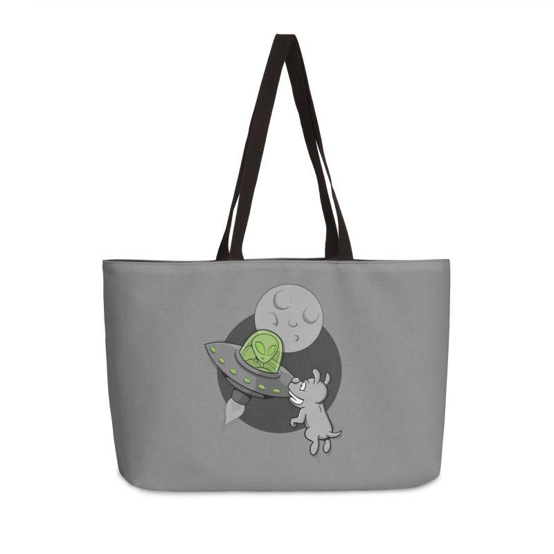 UFF - Unidentified Flying Frisbie Accessories Bag by YiannZ's Artist Shop