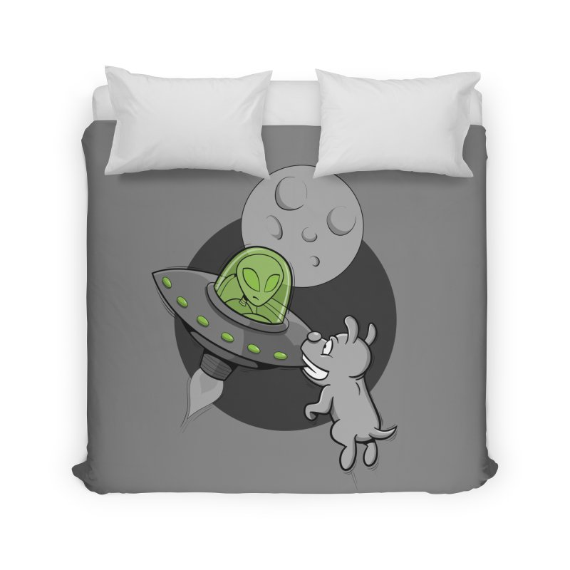 UFF - Unidentified Flying Frisbie Home Duvet by YiannZ's Artist Shop