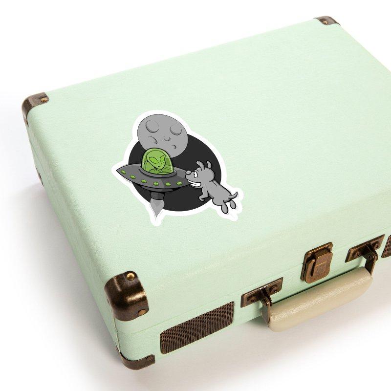 UFF - Unidentified Flying Frisbie Accessories Sticker by YiannZ's Artist Shop