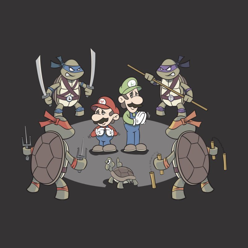 Super Mario Bros VS TMNT Men's T-Shirt by YiannZ's Artist Shop