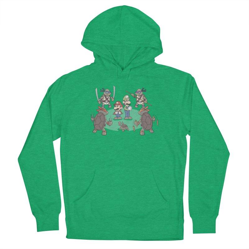 Super Mario Bros VS TMNT Women's Pullover Hoody by YiannZ's Artist Shop
