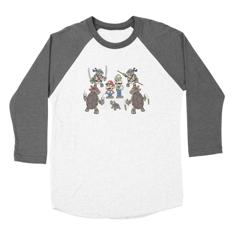 Super Mario Bros VS TMNT Women's Longsleeve T-Shirt by YiannZ's Artist Shop