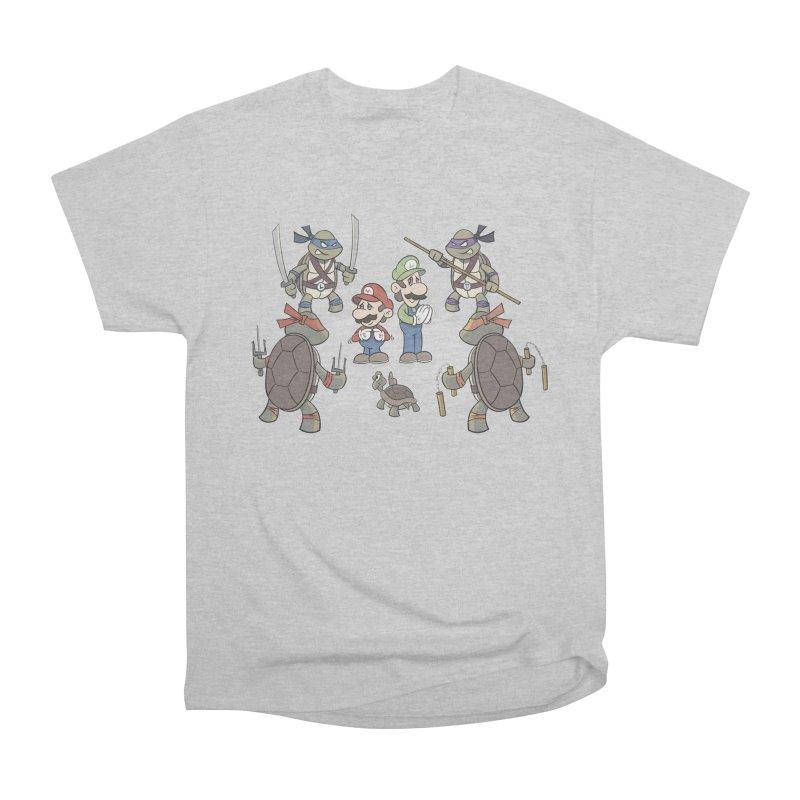 Super Mario Bros VS TMNT Men's T-Shirt by YiannZ's Artist Shop