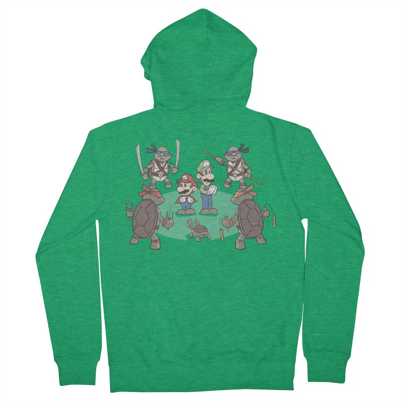 Super Mario Bros VS TMNT Women's Zip-Up Hoody by YiannZ's Artist Shop