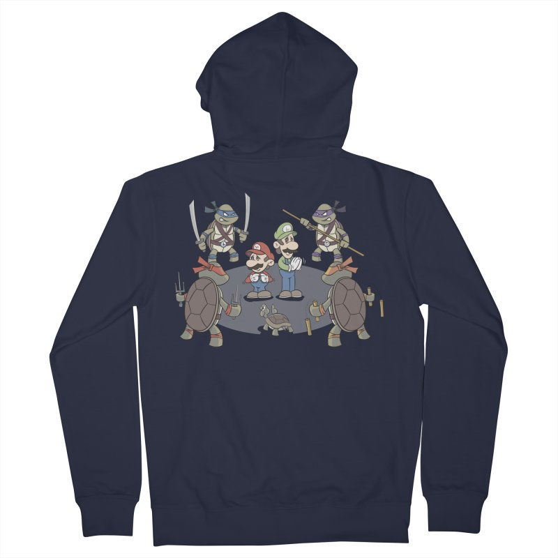 Super Mario Bros VS TMNT Men's Zip-Up Hoody by YiannZ's Artist Shop