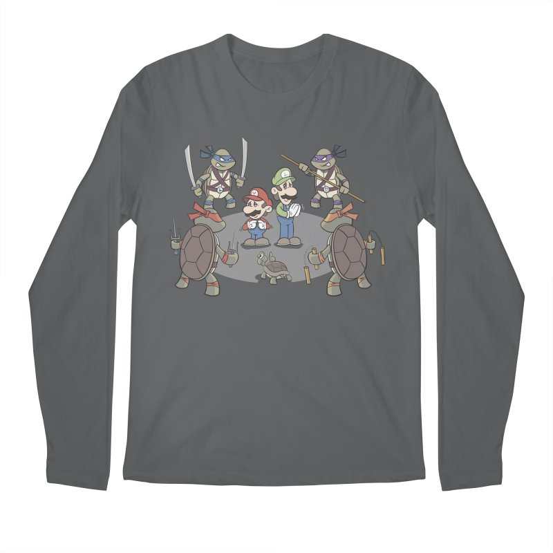 Super Mario Bros VS TMNT Men's Longsleeve T-Shirt by YiannZ's Artist Shop