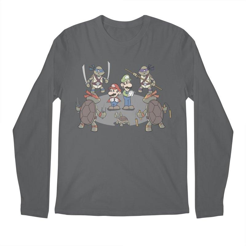 Super Mario Bros VS TMNT Men's Regular Longsleeve T-Shirt by YiannZ's Artist Shop