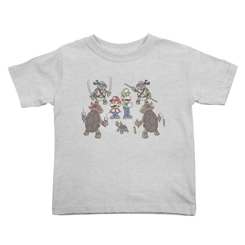 Super Mario Bros VS TMNT Kids Toddler T-Shirt by YiannZ's Artist Shop