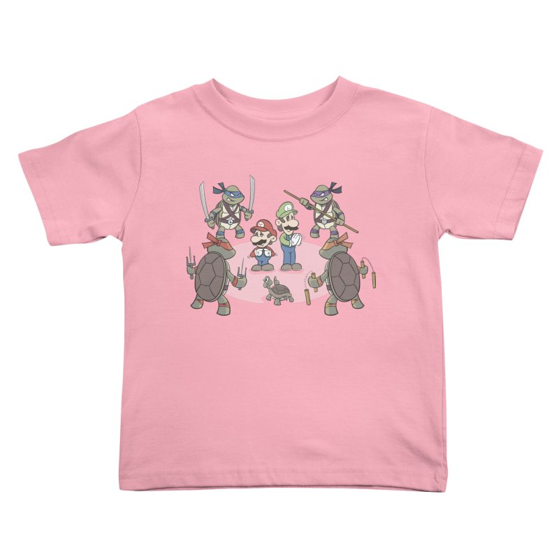 Super Mario Bros VS TMNT Kids Toddler T-Shirt by YiannZ's Artist Shop