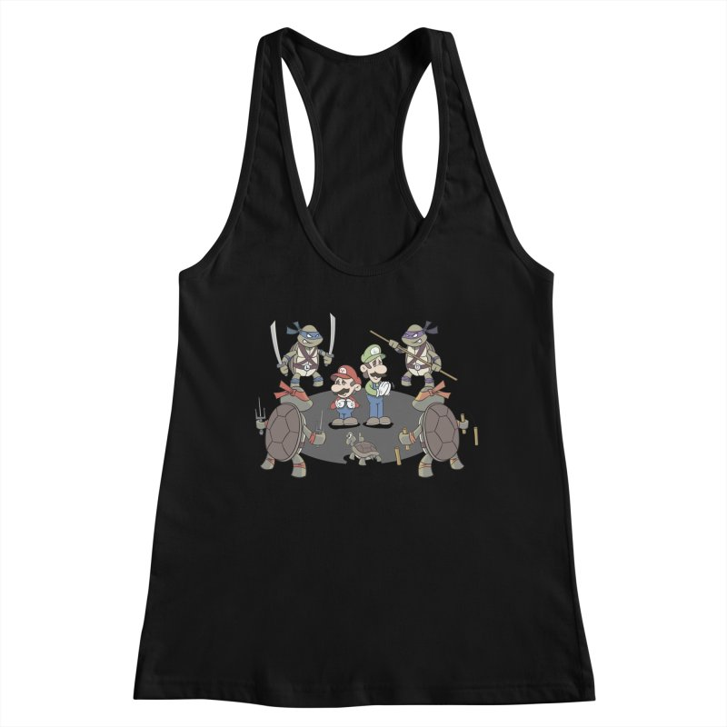 Super Mario Bros VS TMNT Women's Tank by YiannZ's Artist Shop