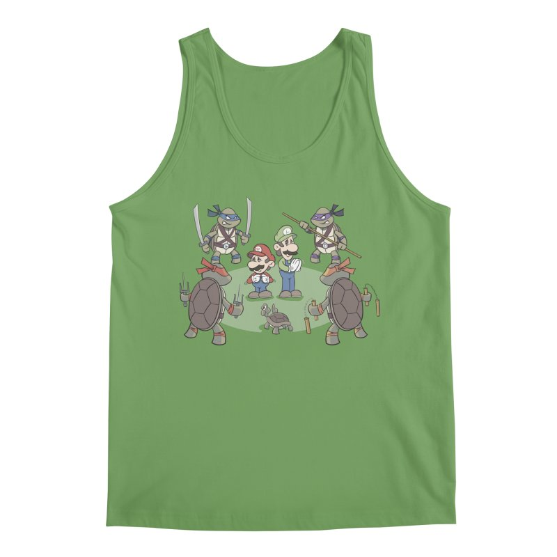 Super Mario Bros VS TMNT Men's Tank by YiannZ's Artist Shop