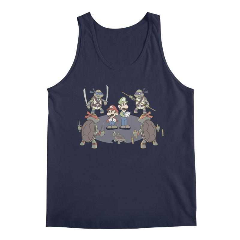 Super Mario Bros VS TMNT Men's Regular Tank by YiannZ's Artist Shop