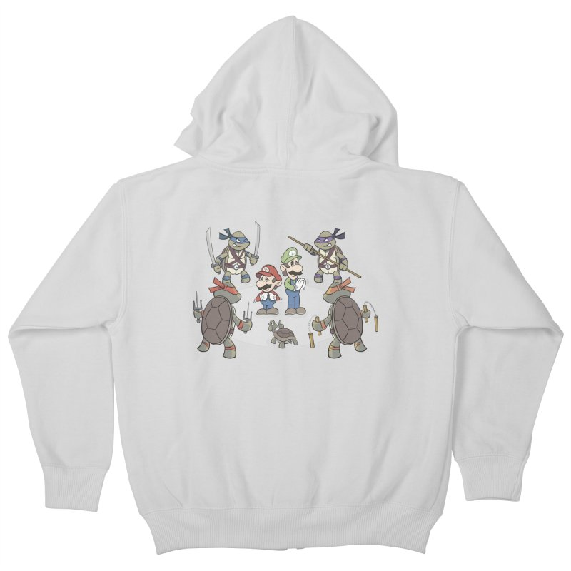 Super Mario Bros VS TMNT Kids Zip-Up Hoody by YiannZ's Artist Shop