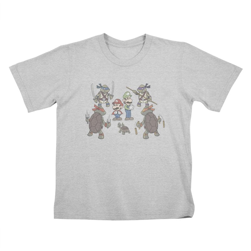 Super Mario Bros VS TMNT Kids T-Shirt by YiannZ's Artist Shop