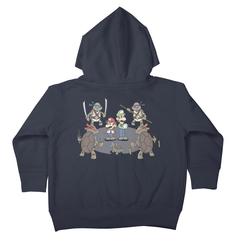 Super Mario Bros VS TMNT Kids Toddler Zip-Up Hoody by YiannZ's Artist Shop