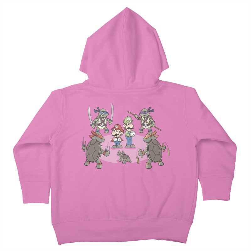 Super Mario Bros VS TMNT Kids Toddler Zip-Up Hoody by YiannZ's Artist Shop