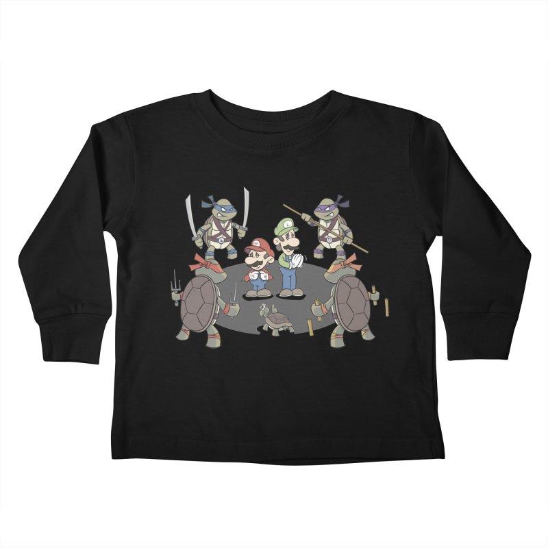 Super Mario Bros VS TMNT Kids Toddler Longsleeve T-Shirt by YiannZ's Artist Shop
