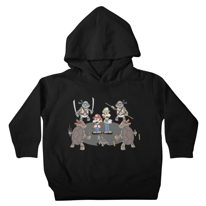 Super Mario Bros VS TMNT Kids Toddler Pullover Hoody by YiannZ's Artist Shop
