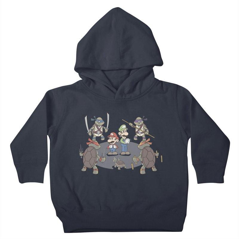 Super Mario Bros VS TMNT Kids Toddler Pullover Hoody by YiannZ's Artist Shop