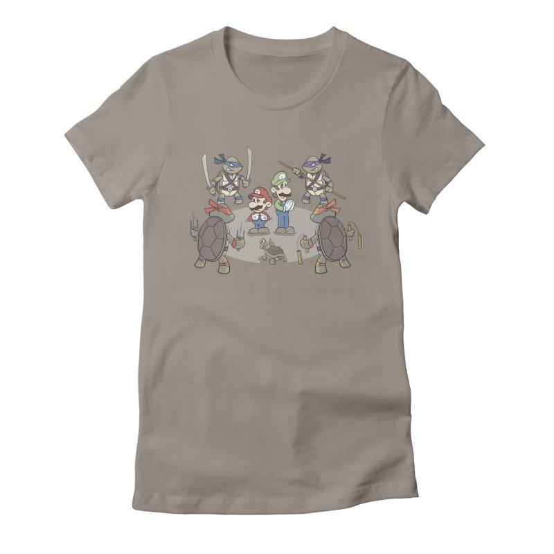 Super Mario Bros VS TMNT Women's T-Shirt by YiannZ's Artist Shop
