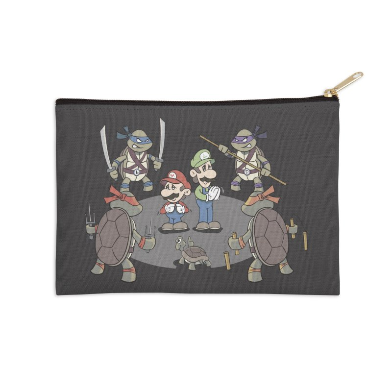 Super Mario Bros VS TMNT Accessories Zip Pouch by YiannZ's Artist Shop