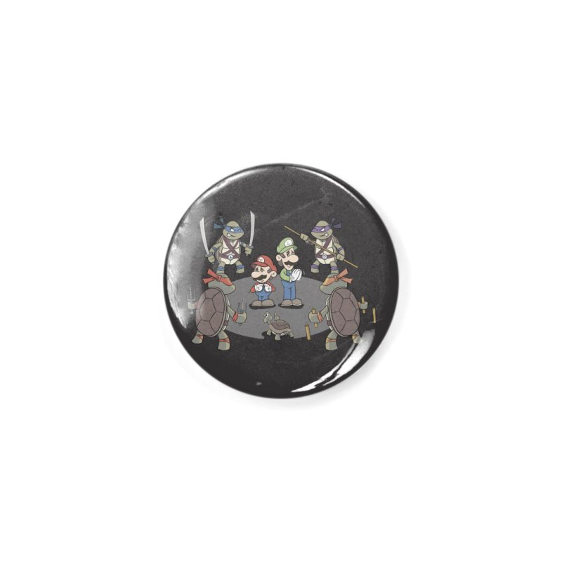 Super Mario Bros VS TMNT Accessories Button by YiannZ's Artist Shop