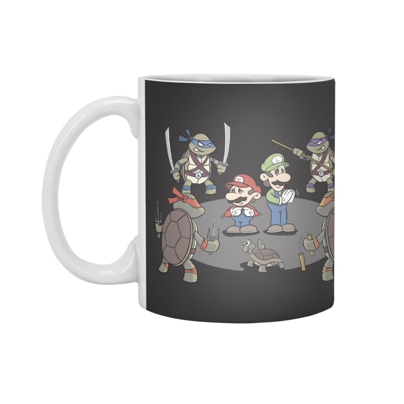 Super Mario Bros VS TMNT Accessories Mug by YiannZ's Artist Shop