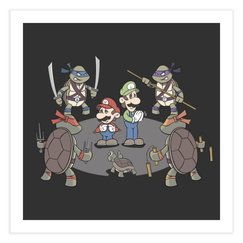 Super Mario Bros VS TMNT Home Fine Art Print by YiannZ's Artist Shop
