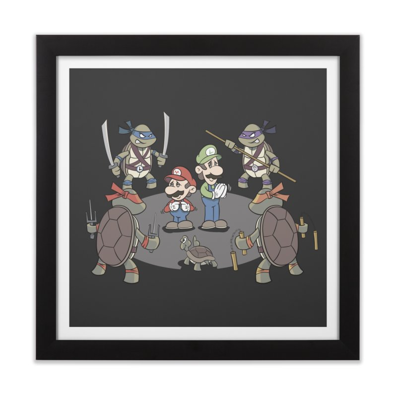 Super Mario Bros VS TMNT Home Framed Fine Art Print by YiannZ's Artist Shop