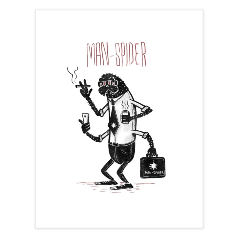 MAN - SPIDER Home Fine Art Print by YiannZ's Artist Shop