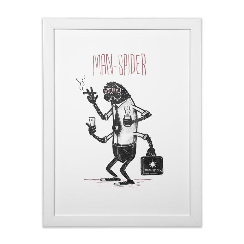 MAN - SPIDER Home Framed Fine Art Print by YiannZ's Artist Shop
