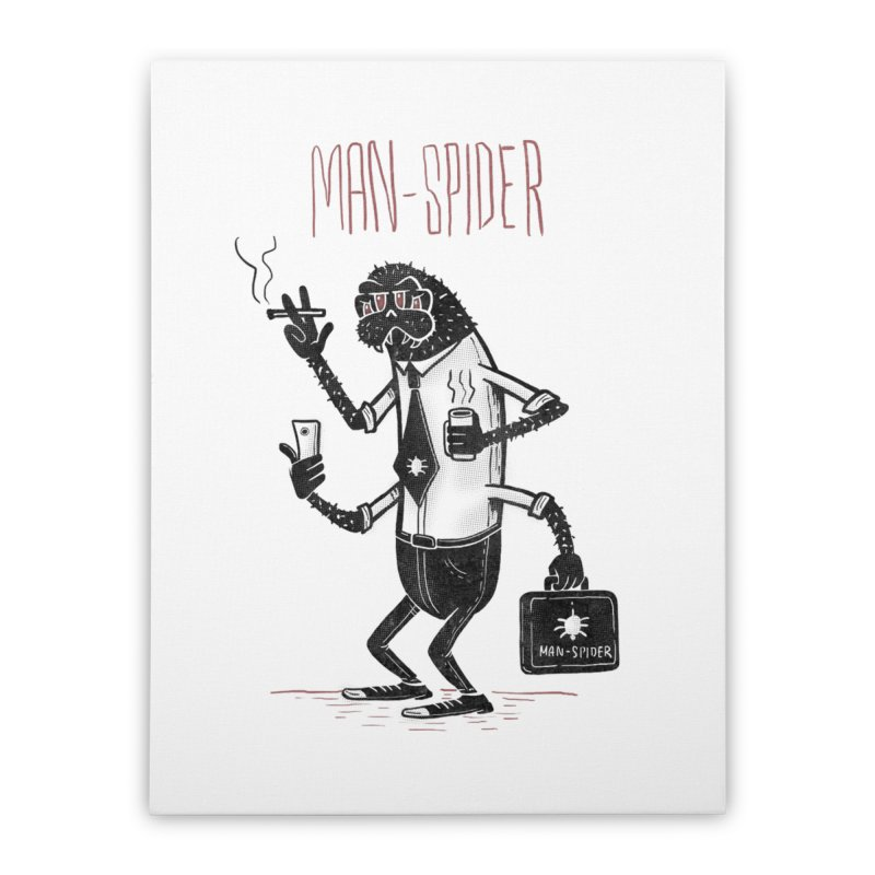 MAN - SPIDER Home Stretched Canvas by YiannZ's Artist Shop