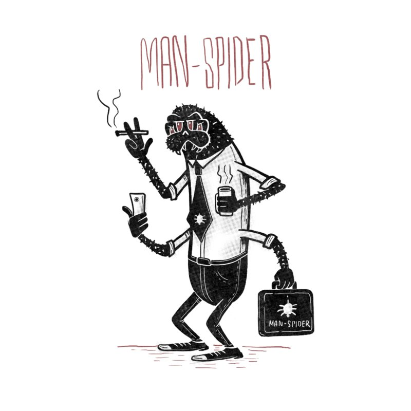MAN - SPIDER Men's Pullover Hoody by YiannZ's Artist Shop