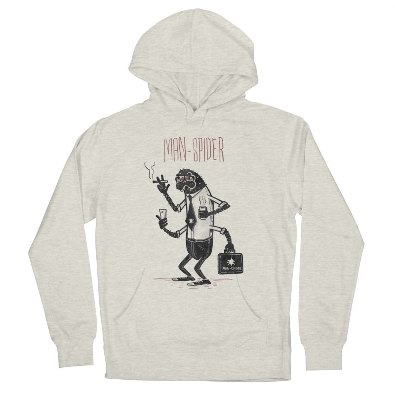 MAN - SPIDER Men's French Terry Pullover Hoody by YiannZ's Artist Shop