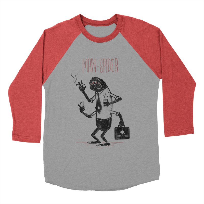 MAN - SPIDER Women's Baseball Triblend Longsleeve T-Shirt by YiannZ's Artist Shop