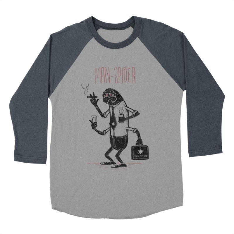 MAN - SPIDER Women's Baseball Triblend Longsleeve T-Shirt by YiannZ's Artist Shop