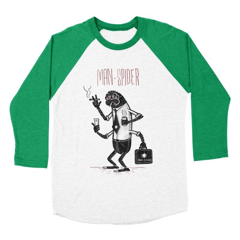 MAN - SPIDER Men's Baseball Triblend Longsleeve T-Shirt by YiannZ's Artist Shop