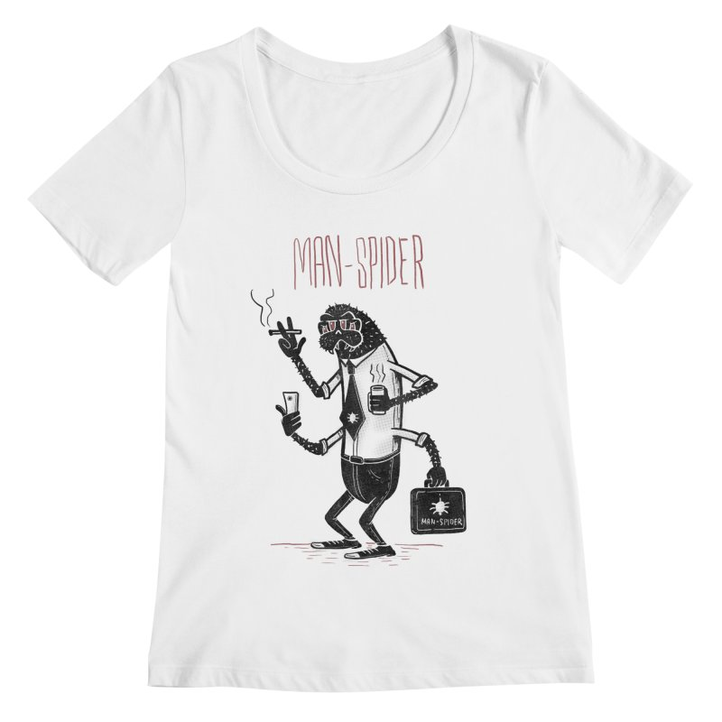 MAN - SPIDER Women's Regular Scoop Neck by YiannZ's Artist Shop