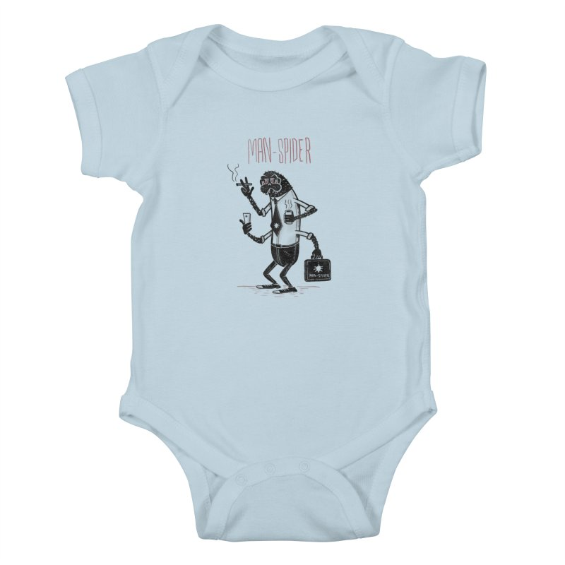MAN - SPIDER Kids Baby Bodysuit by YiannZ's Artist Shop