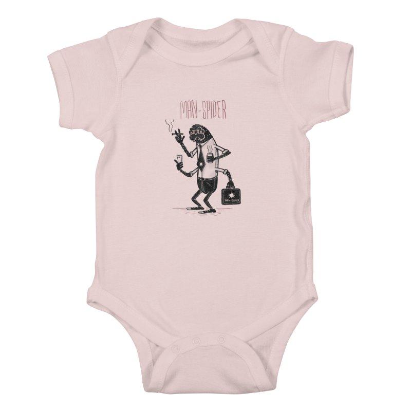 MAN - SPIDER Kids Baby Bodysuit by YiannZ's Artist Shop