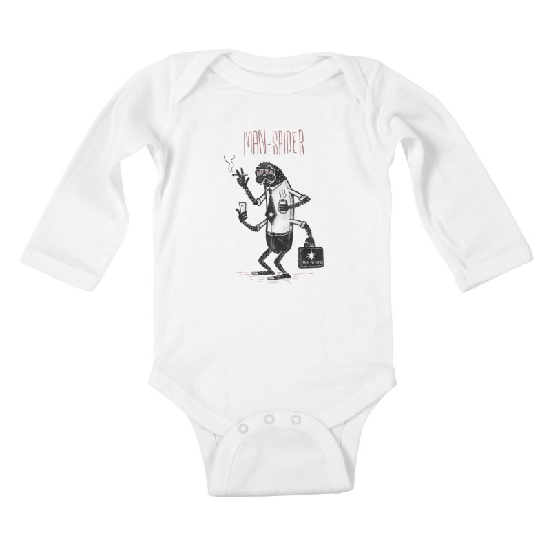 MAN - SPIDER Kids Baby Longsleeve Bodysuit by YiannZ's Artist Shop