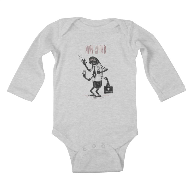 MAN - SPIDER Kids Baby Longsleeve Bodysuit by YiannZ's Artist Shop