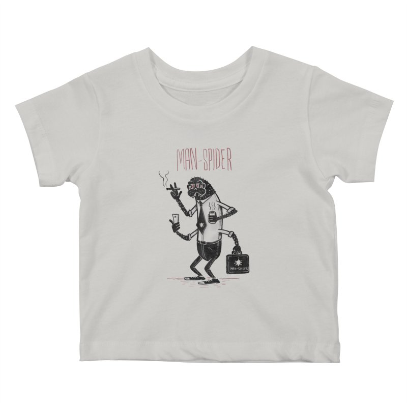 MAN - SPIDER Kids Baby T-Shirt by YiannZ's Artist Shop
