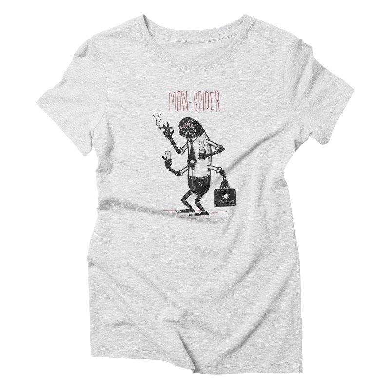 MAN - SPIDER Women's T-Shirt by YiannZ's Artist Shop